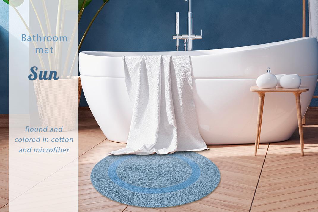 sun round bath mat